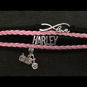 Jewelry - Harley love suede and leather bracelet